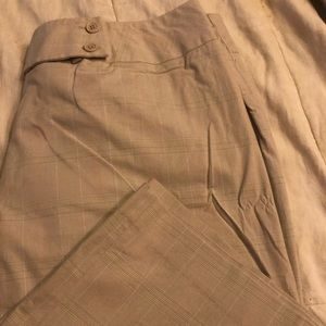 Wide leg khaki capri pants